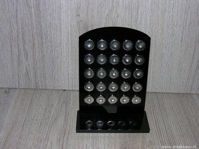 Display drukknopen, 18x14cm, zwart