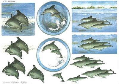 Wekabo knipvel, 447, dolfijnen