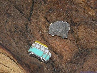 VW bus, blauw