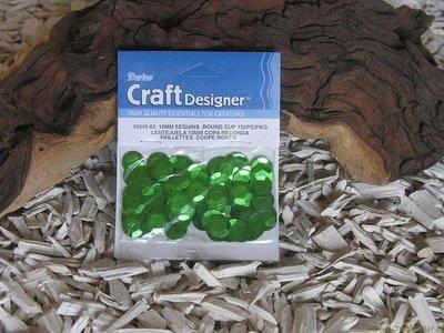 Pailletten rond, 10 mm. 200 st. groen