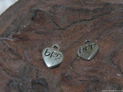 BFF, 10x12mm, zilverkleur