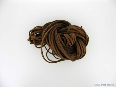 Veter imit. suede, 3mm, chocoladebruin