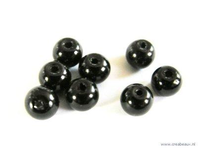 Parel, 06mm, zwart