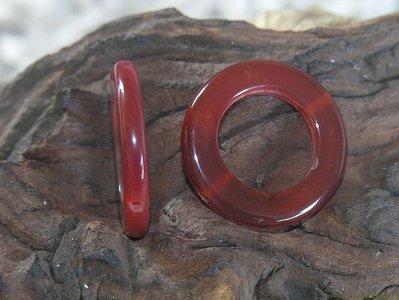 Ring, 30x30mm, orange selenite