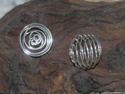 Spiraal, 20mm, zilverkleur