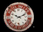 Metalen-retro-klok-Hotel-Du-Lys