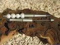 Kralenpen, 15cm, zilver