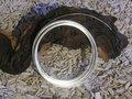Aluminium draad plat 3,5x1 mm, pearl