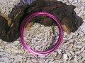 Aluminium draad plat 3,5x1 mm, strong pink