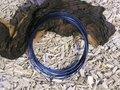 Aluminium draad plat 3,5x1 mm, royal blue